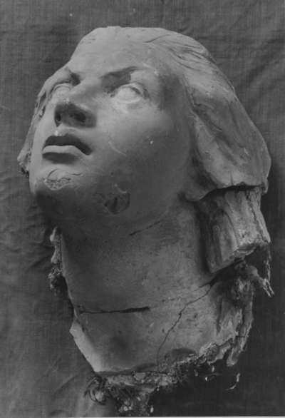 Kopffragment eines Modells für eine Rheintochter des Vater-Rhein-Brunnens in Köln