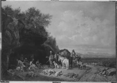 Schafschur in der Campagna