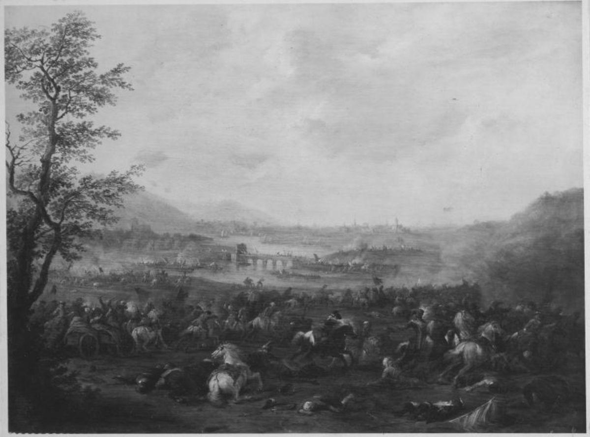 Gefecht am Ufer eines Flusses