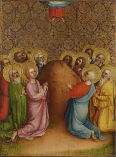 Heisterbacher Altar: Himmelfahrt Christi