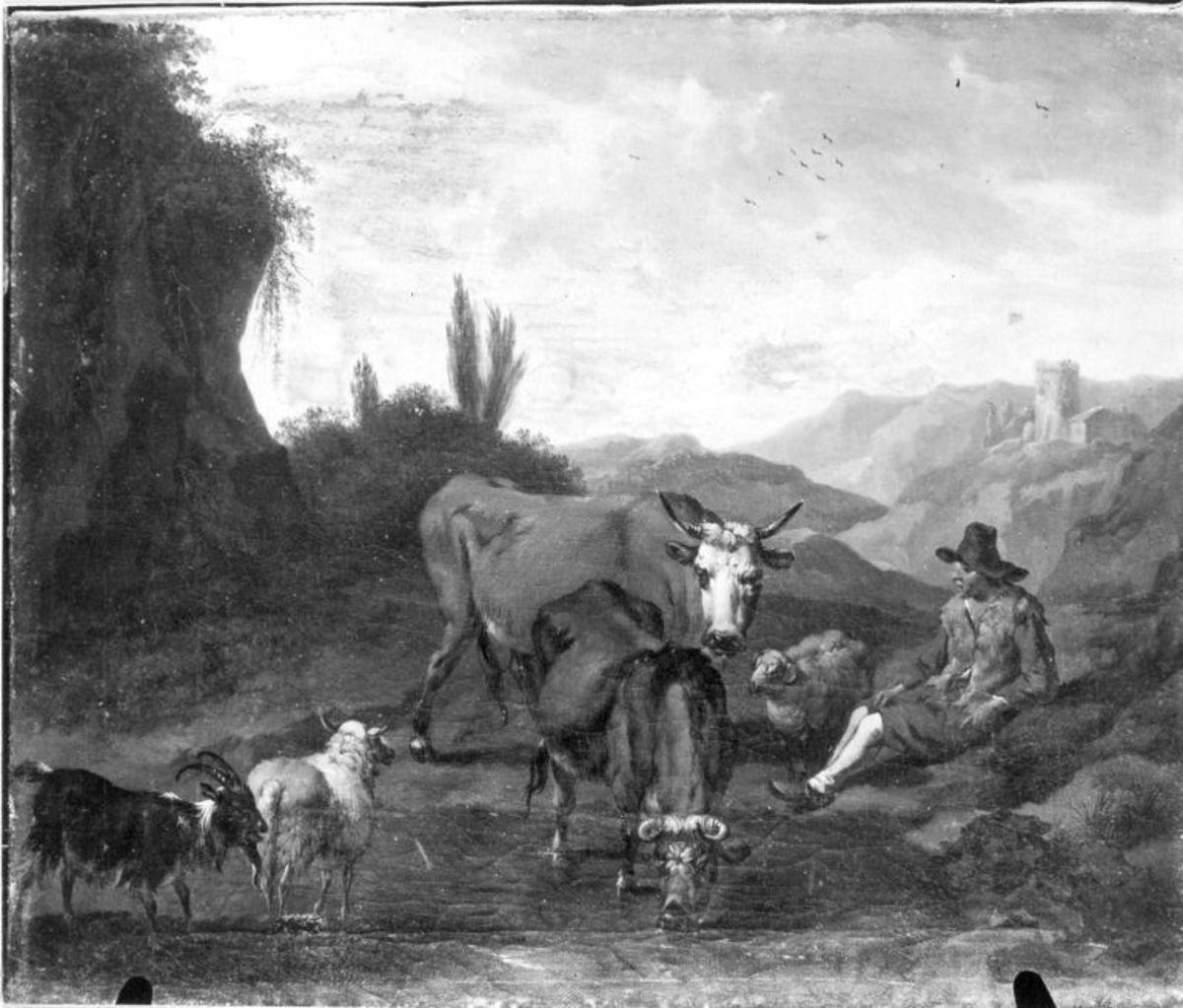 Vieh an der Tränke