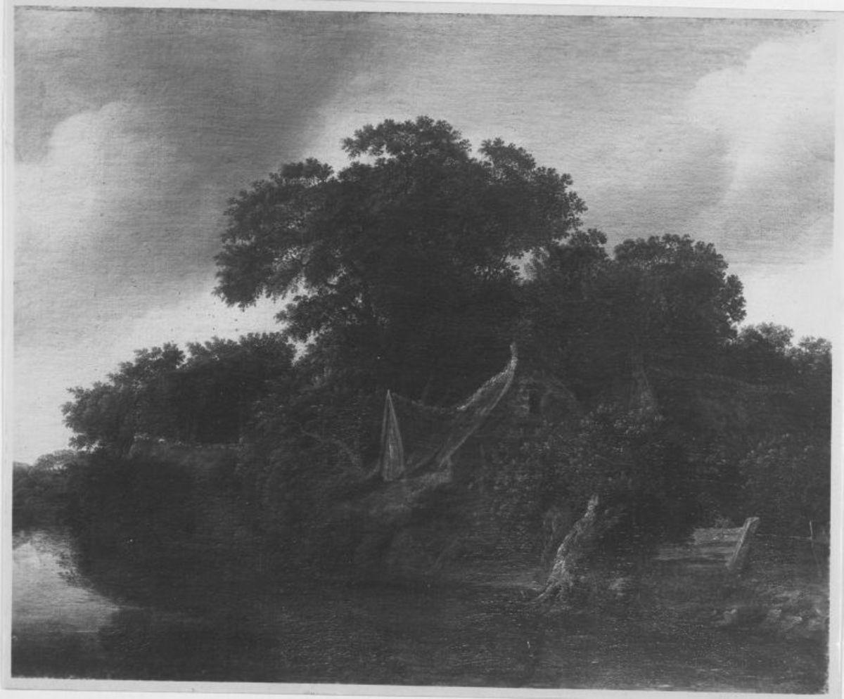Baumlandschaft mit Bauernhof
