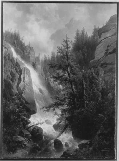 Wasserfall in einer Gebirgsschlucht