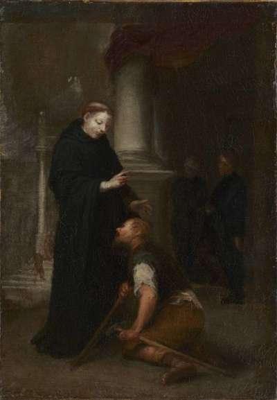 Der hl. Thomas von Villanueva heilt einen Lahmen (Skizze)