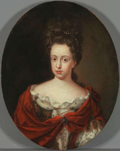 Bildnis der Leopoldine Eleonore, Tochter des Kurfürsten Philipp Wilhelm von der Pfalz