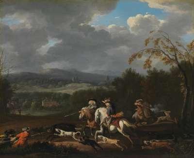 Hirsch- und Wildschweinjagd