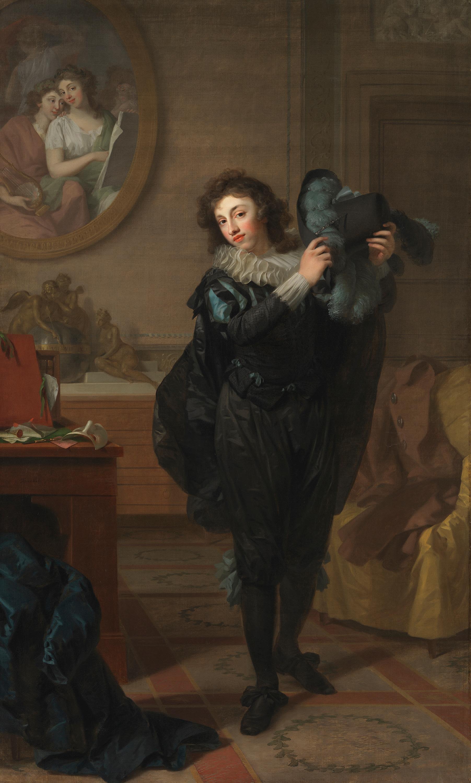 Herr Chatelain (?) in Kostümierung