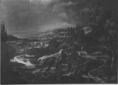 Landschaft mit Kloster