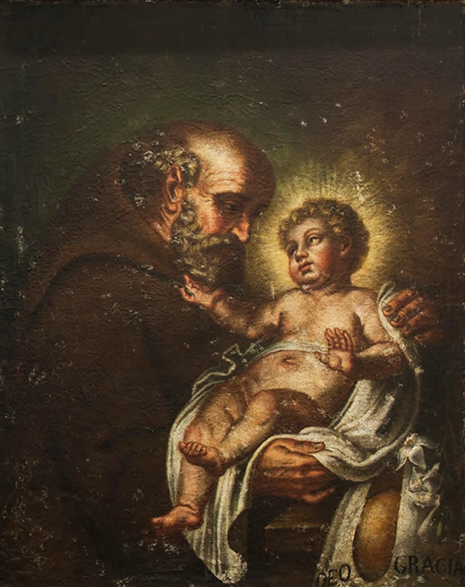 Der hl. Felix von Cantalice mit dem Christuskind