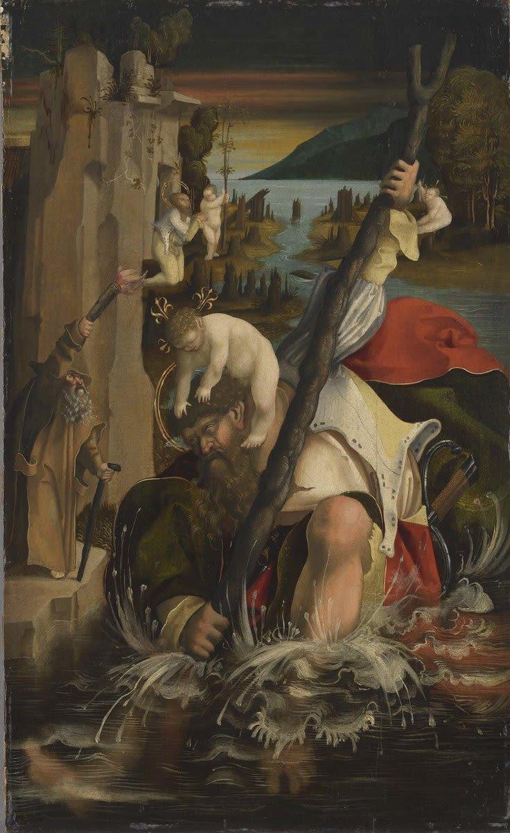 Hl. Christophorus (Rückseite: ehemals Himmelfahrt der hl. Maria Magdalena)