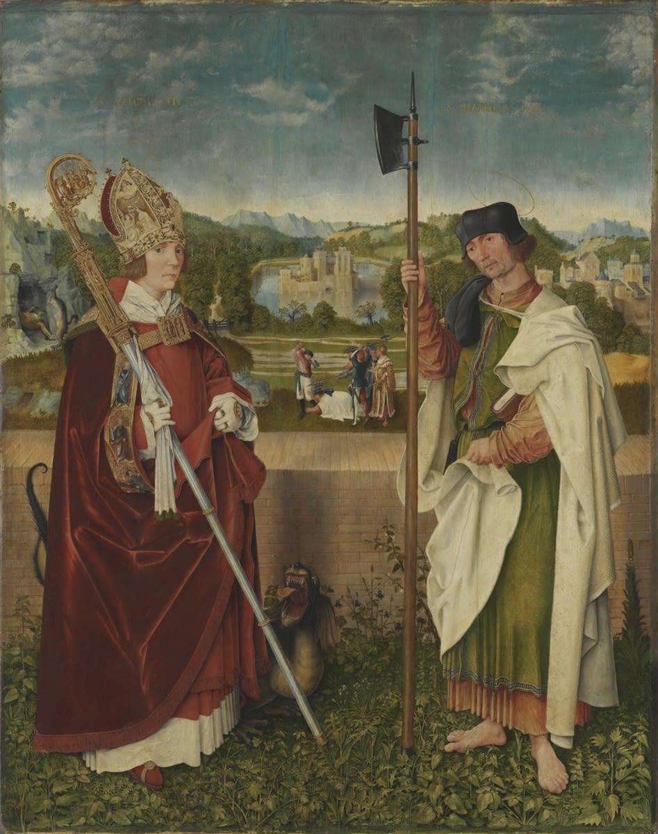 """Universitätsaltar"": Hll. Narzissus und Mathäus"
