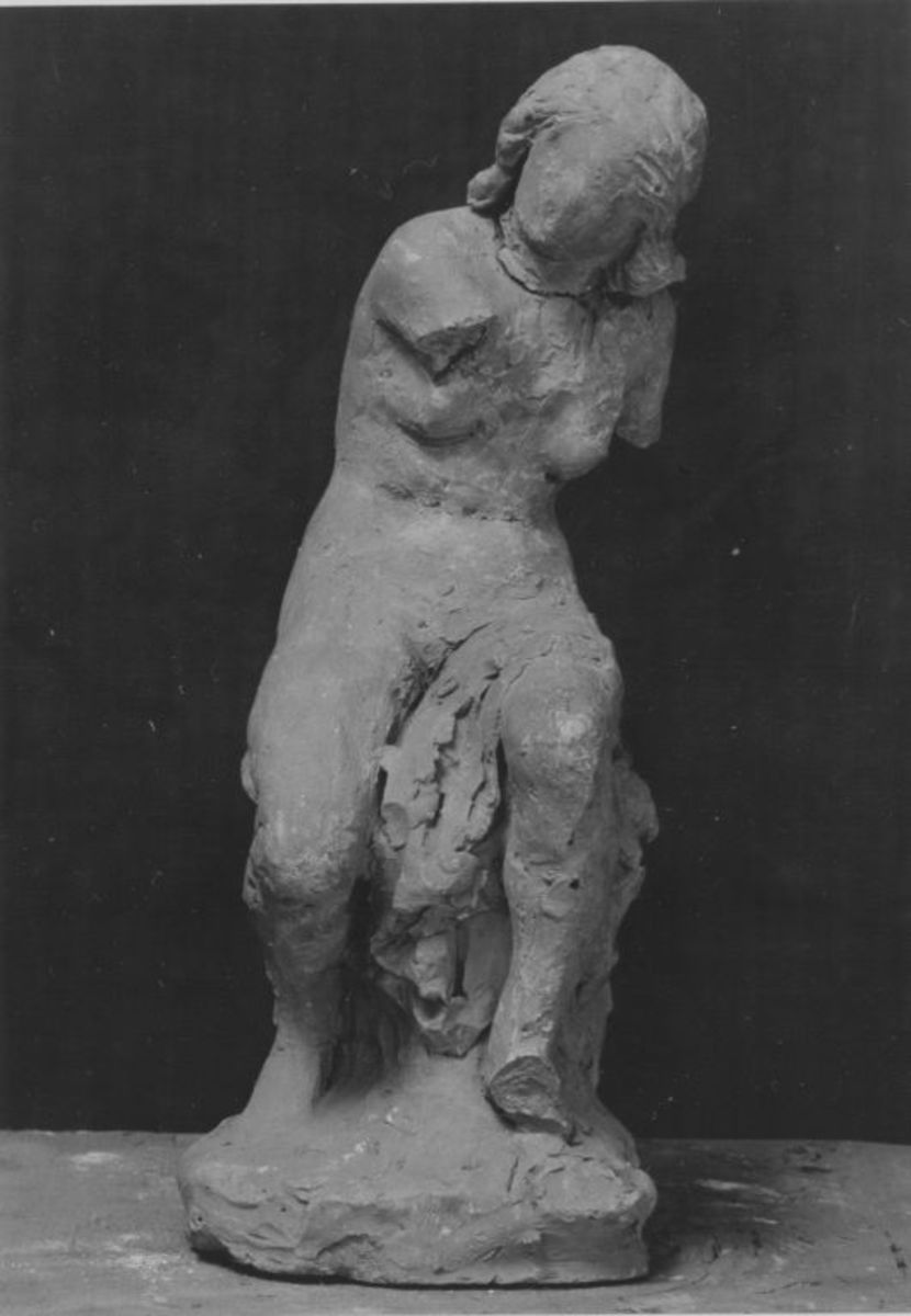 Bozzetto für die junge weibliche Figur des Hubertus-Brunnens in München