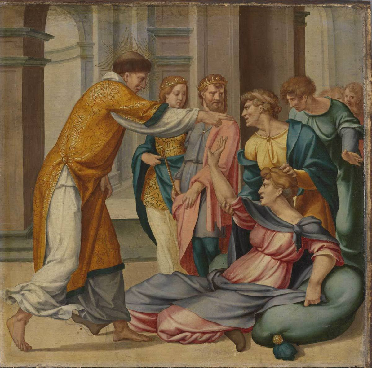 Cyriakus-Folge: Der hl. Cyriakus befreit Jobia vom bösen Geist