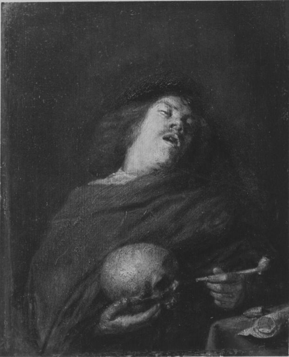 Mann mit Totenkopf