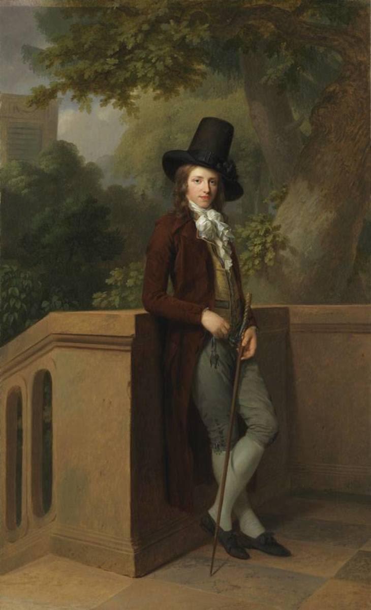 Nicolas Châtelain im Garten