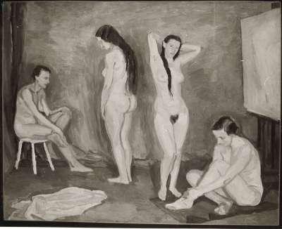 Vier weibliche Akte