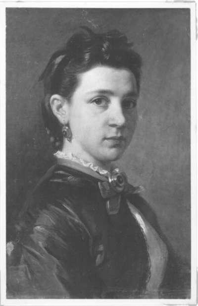 Amalie Nister als Braut des Künstlers