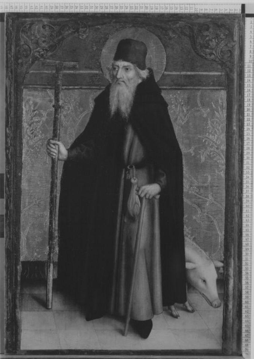 Der hl. Antonius Eremita (Abgespaltene Rückseite siehe WAF 1208)
