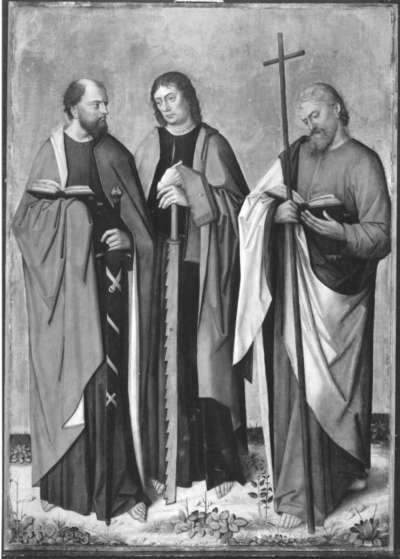 Apostelaltar: Hll. Paulus, Simon, Philippus Rückseite: Geburt Christi