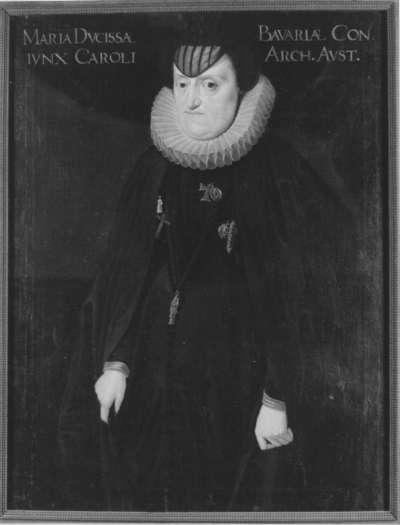 Bildnis der Maria von Bayern als Witwe Erzherzog Karls II. von Steiermark (1551-1608)