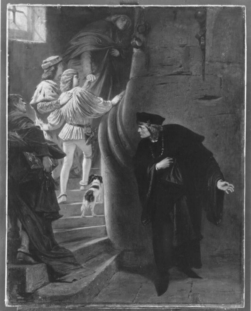 Die Gefangennahme der Söhne Edwards IV. im Tower zu London