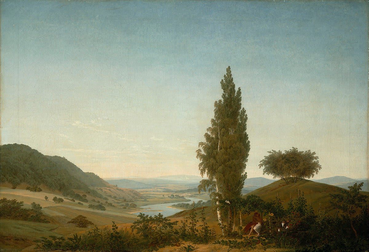 Der Sommer (Landschaft mit Liebespaar)
