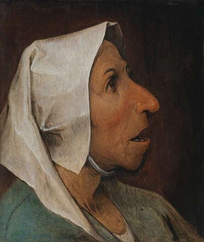 Kopf einer alten Bäuerin