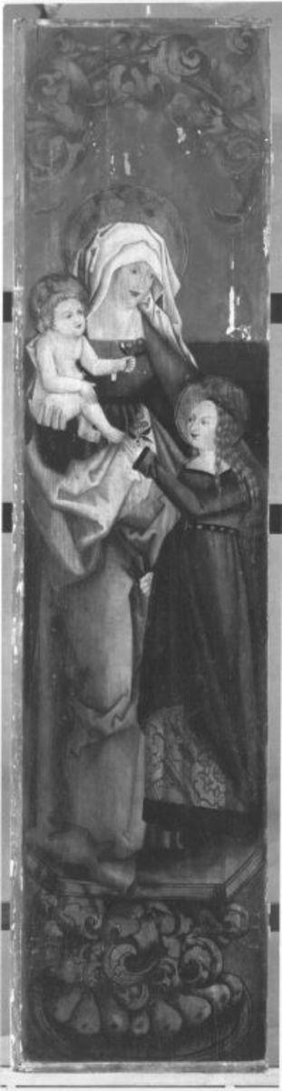 Hl. Anna selbdritt (Rückseite: Rest eines Strahlenkranzes)