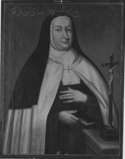 Bildnis einer Karmeliternonne (Ernestine Elisabeth von Neuburg? Johanna von Pfalz-Sulzbach?)