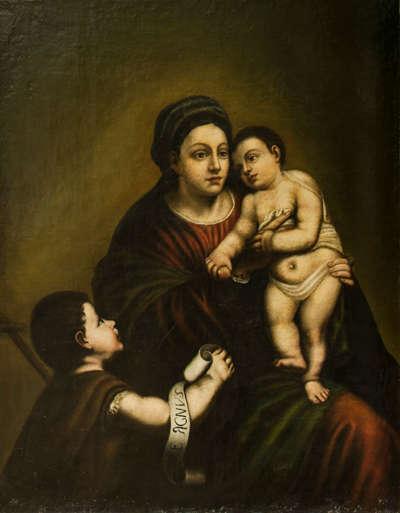 Maria mit Christuskind und Johannisknaben
