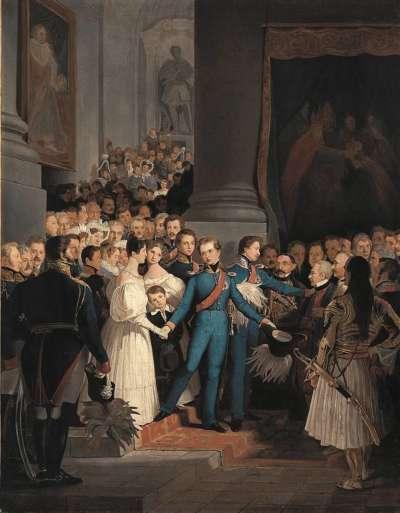 Abschied König Ottos vom Münchner Hof