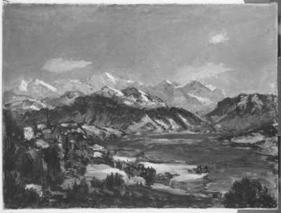 Bergsee im Winter