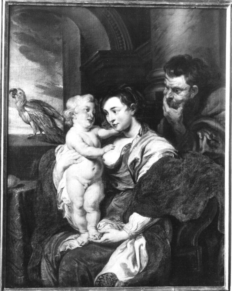 Heilige Familie mit dem Papagei