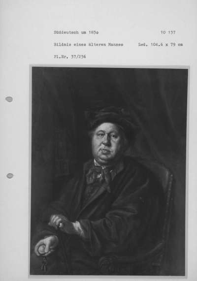 Bildnis eines Mannes mit Uhr
