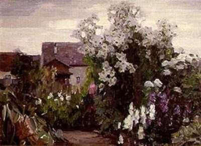 Garten in Dießen, ohne Sonne