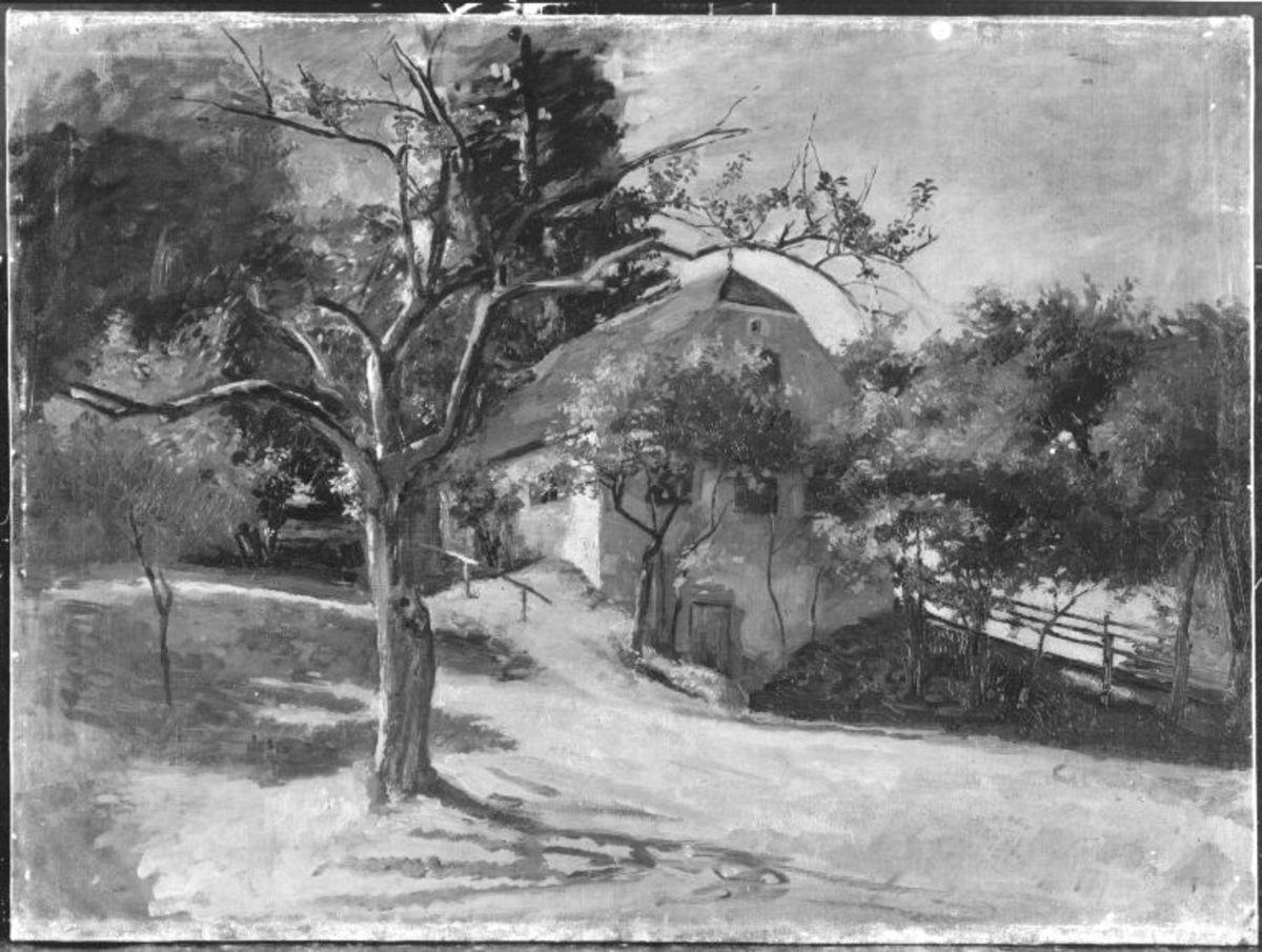 Landschaft mit Apfelbäumen