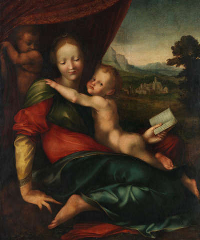 Maria mit Kind und dem Johannesknaben