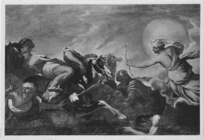Diana tötet die Kinder der Niobe