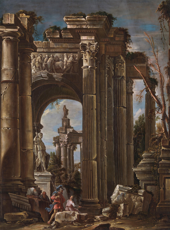 Römische Ruinen mit Staffage