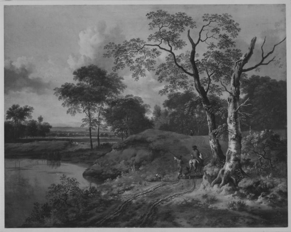 Landschaft mit Reiter
