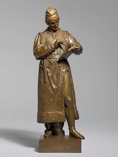 Bronzestatuette des Hans Memling