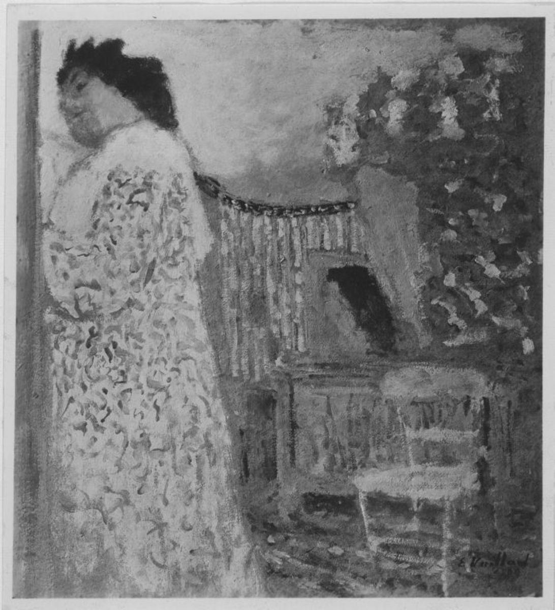 Interieur mit Frau