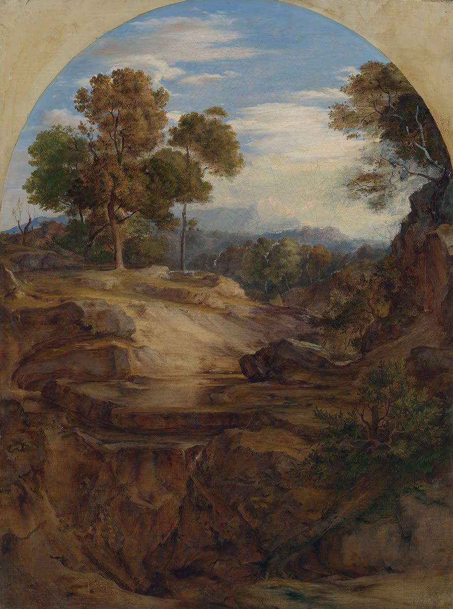 """Landschaft zu """"Elias in der Einöde"""""""