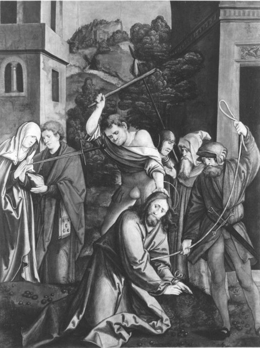 Christgartner Altar: Fall Christi auf dem Weg zu Pilatus (abgespaltene Rückseite von WAF 921)