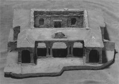 Modell für ein Badehaus für Friedrich Graf von Pappenheim in Iszkaszentgyörgy