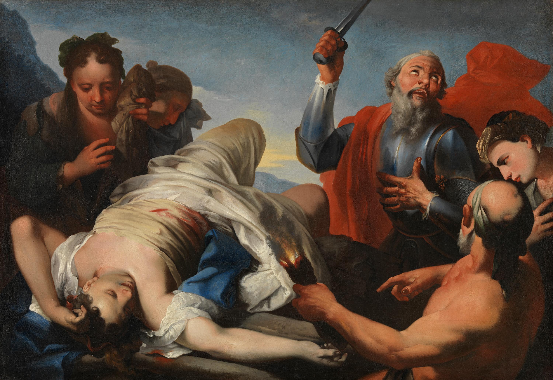 Jephta opfert seine Tochter dem Herrn