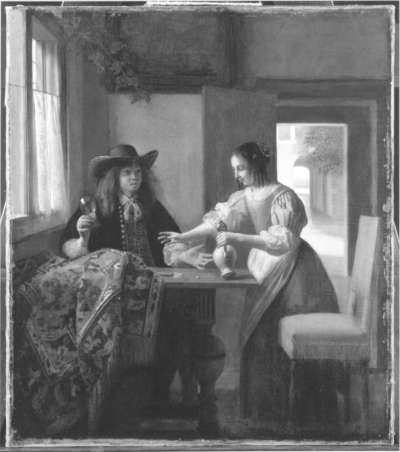 Der Weintrinker und die Dienstmagd