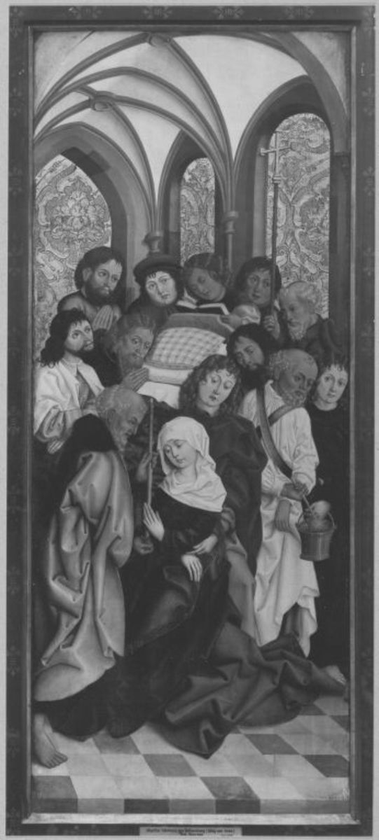 Liebfrauenaltar: Tod Mariä (Rückseite: Kreuzigung Christi)
