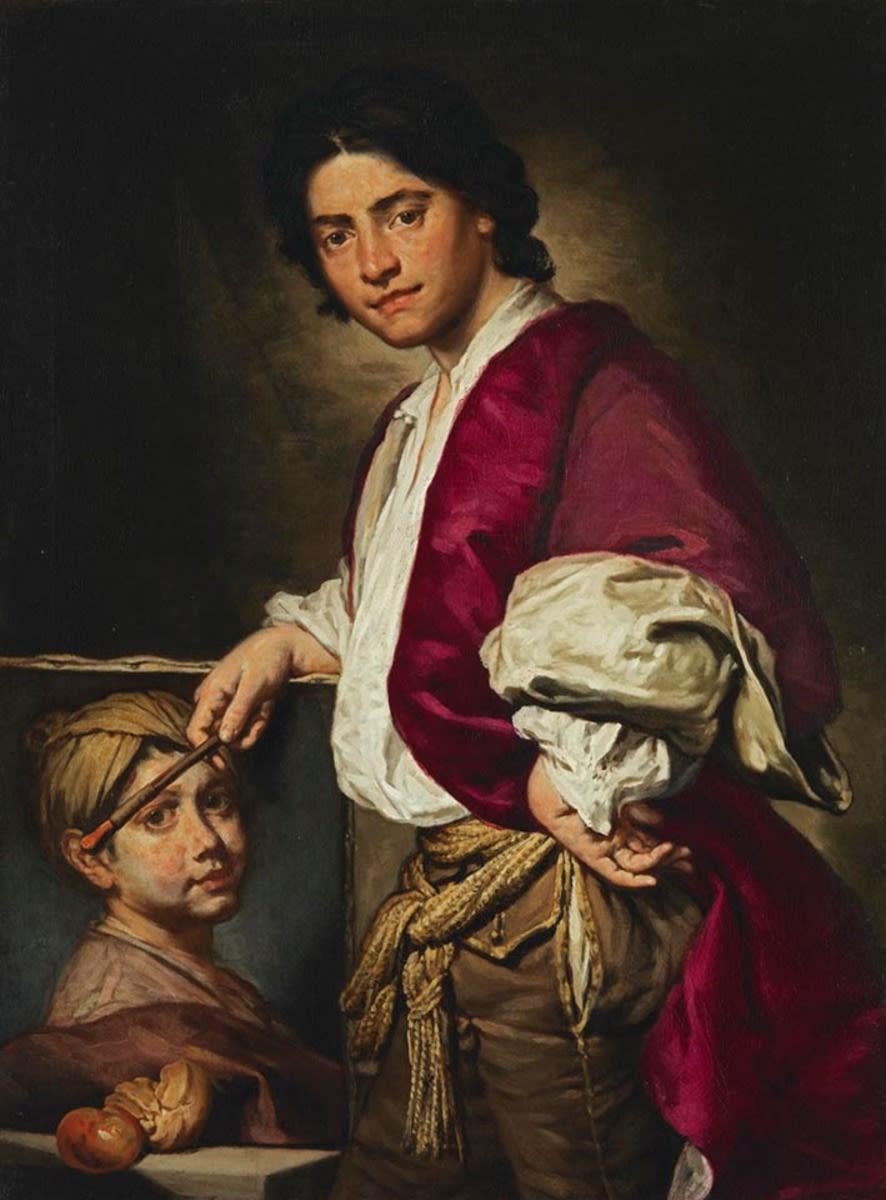 Bildnis eines jungen Malers mit Knabenportrait