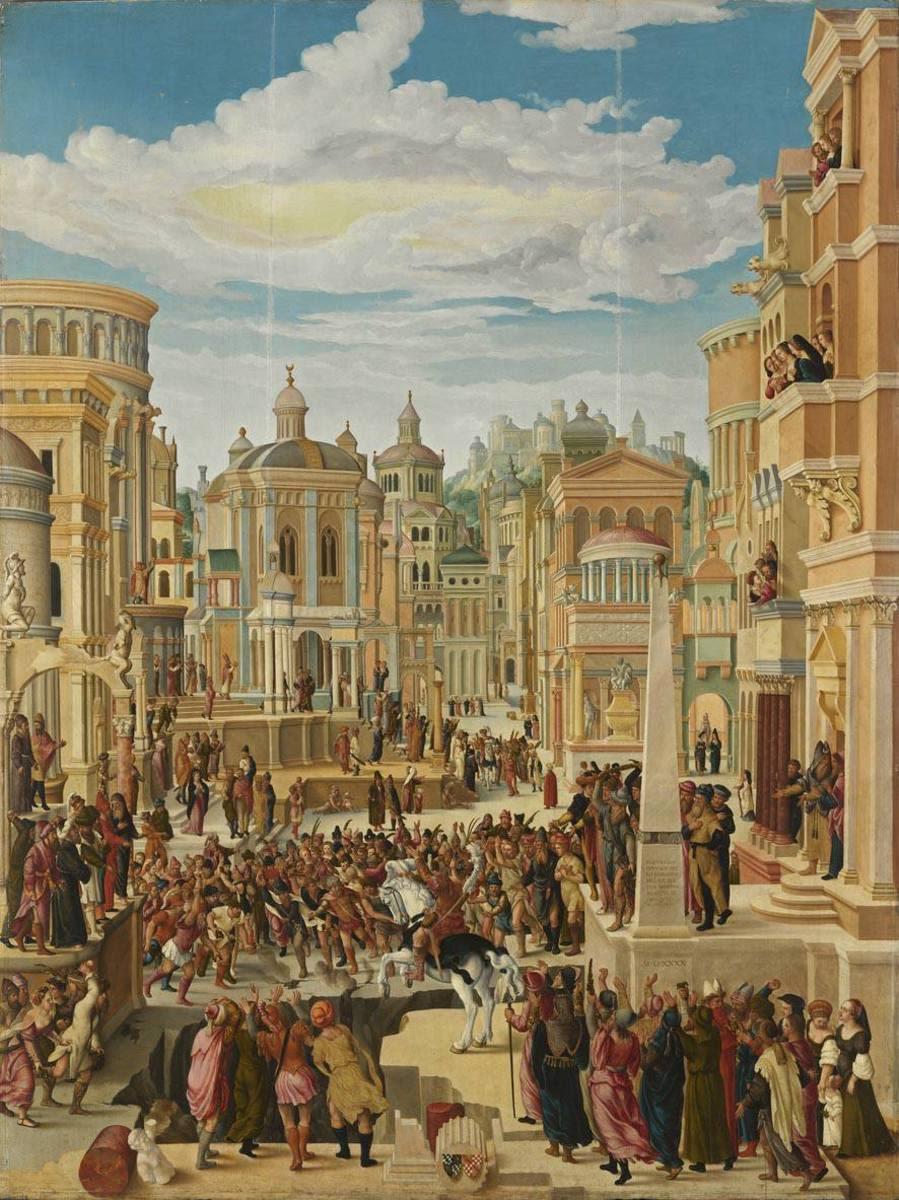 Historienzyklus: Marcus Curtius opfert sich für das römische Volk